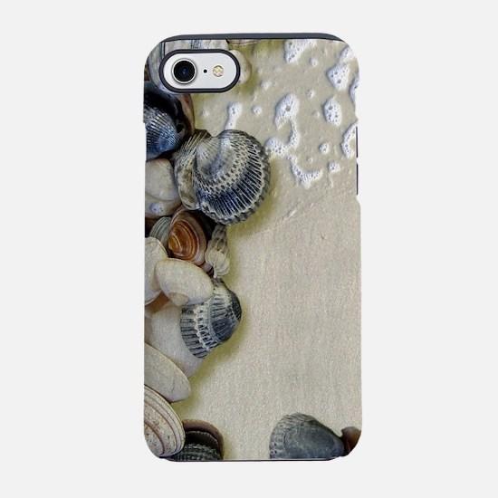 summer ocean beach seashells iPhone 8/7 Tough Case