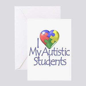 Honoring special needs students greeting cards cafepress my autistic students greeting card m4hsunfo