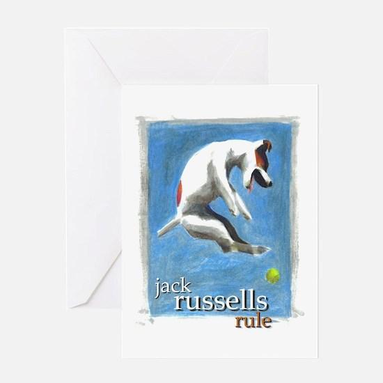 Jack Russells Rule Greeting Card