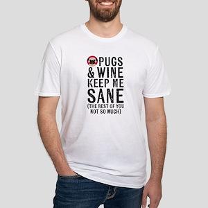 Pugs & Wine Keep Me Sane T-Shirt