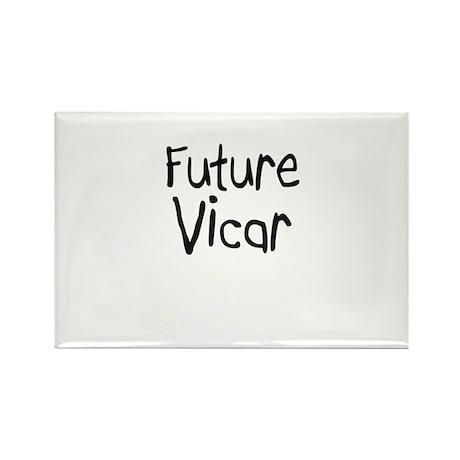 Future Vicar Rectangle Magnet