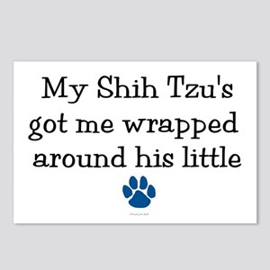 Wrapped Around His Paw (Shih Tzu) Postcards (Packa