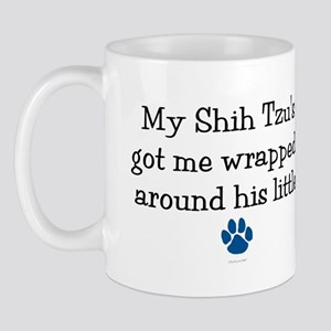 Wrapped Around His Paw (Shih Tzu) Mug