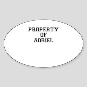 Property of ADRIEL Sticker