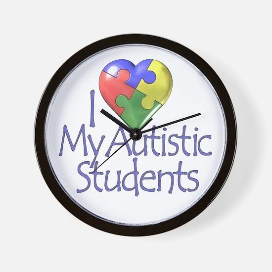 My Autistic Students Wall Clock