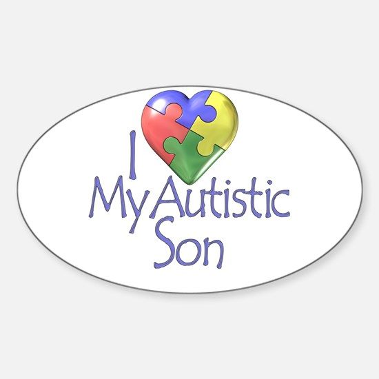 My Autistic Son Oval Decal