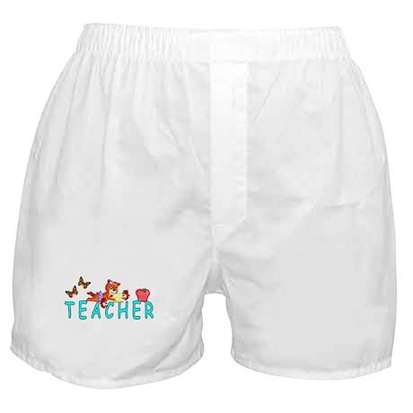 Teacher Reading Boxer Shorts