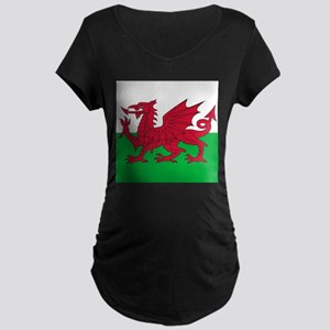Flag of Wales Maternity T-Shirt
