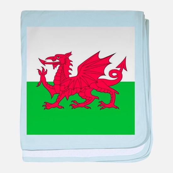 Flag of Wales baby blanket