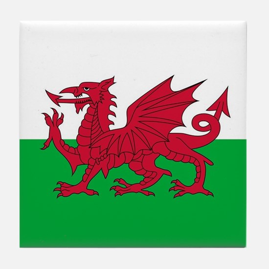 Flag of Wales Tile Coaster