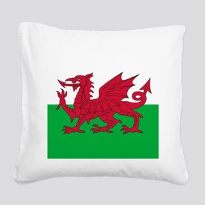 Flag of Wales Square Canvas Pillow