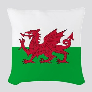 Flag of Wales Woven Throw Pillow