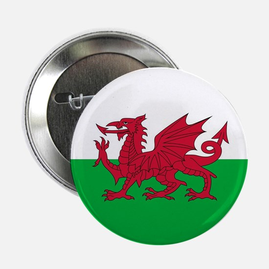 """Flag of Wales 2.25"""" Button"""