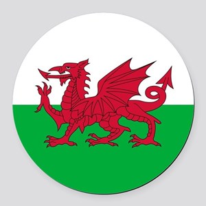 Flag of Wales Round Car Magnet