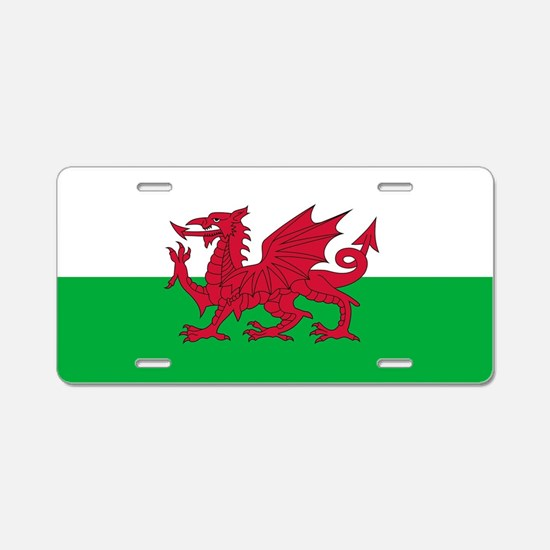 Flag of Wales Aluminum License Plate