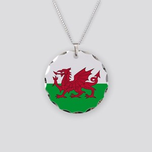 Flag of Wales Necklace Circle Charm
