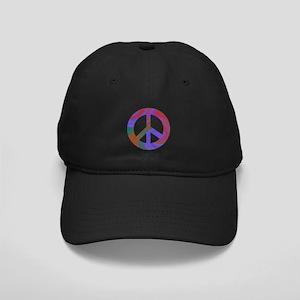 Peace Sign Swirl Black Cap