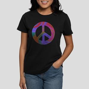 Peace Sign Swirl Women's Dark T-Shirt