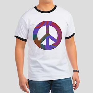 Peace Sign Swirl Ringer T