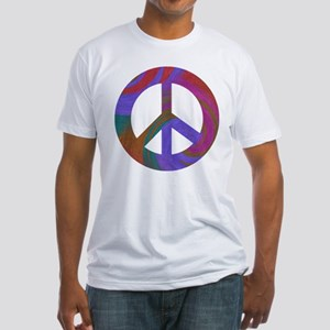 Peace Sign Swirl Fitted T-Shirt