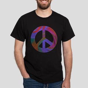 Peace Sign Swirl Dark T-Shirt