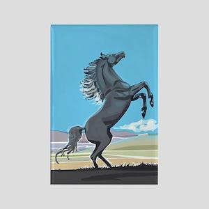 Wild Stallion Rectangle Magnet