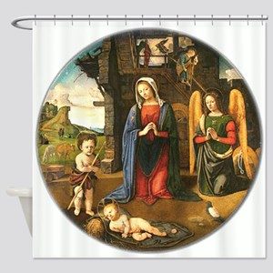 Christmas Nativity Shower Curtain