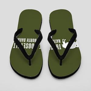 Bison: Theodore Roosevelt, North Dakota Flip Flops