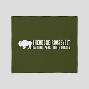 Bison: Theodore Roosevelt, North Dak Throw Blanket