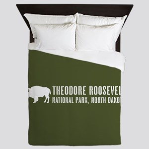 Bison: Theodore Roosevelt, North Dakot Queen Duvet