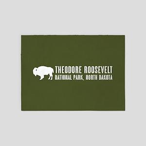 Bison: Theodore Roosevelt, North Da 5'x7'Area Rug