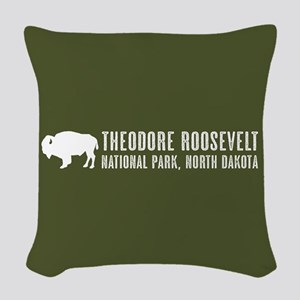 Bison: Theodore Roosevelt, Nor Woven Throw Pillow