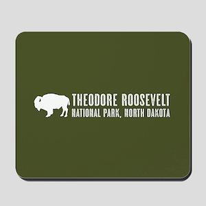 Bison: Theodore Roosevelt, North Dakota Mousepad