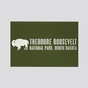 Bison: Theodore Roosevelt, North Rectangle Magnet