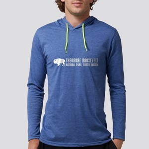 Bison: Theodore Roosevelt, North Mens Hooded Shirt