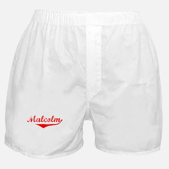 Malcolm Vintage (Red) Boxer Shorts