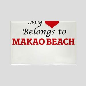 My Heart Belongs to Makao Beach Hawaii Magnets