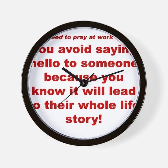 Prayer3 Wall Clock