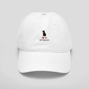 I Love My Rottweiler Cap