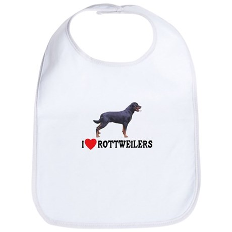 I Love Rottweilers Bib