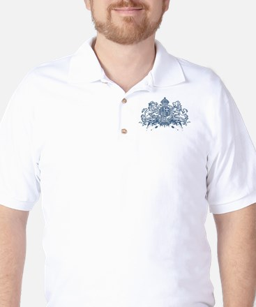 Trance Memento Blue Golf Shirt