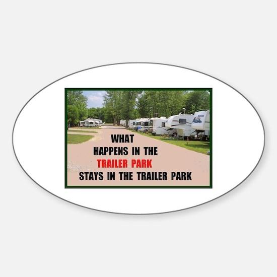 TRAILER PARK Oval Decal