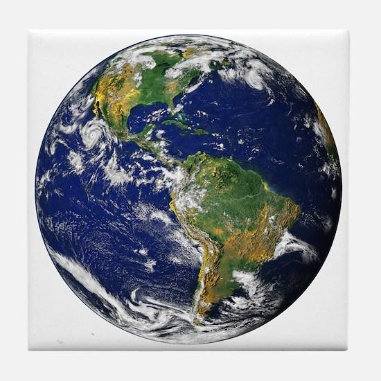 Planet Earth Tile Coaster