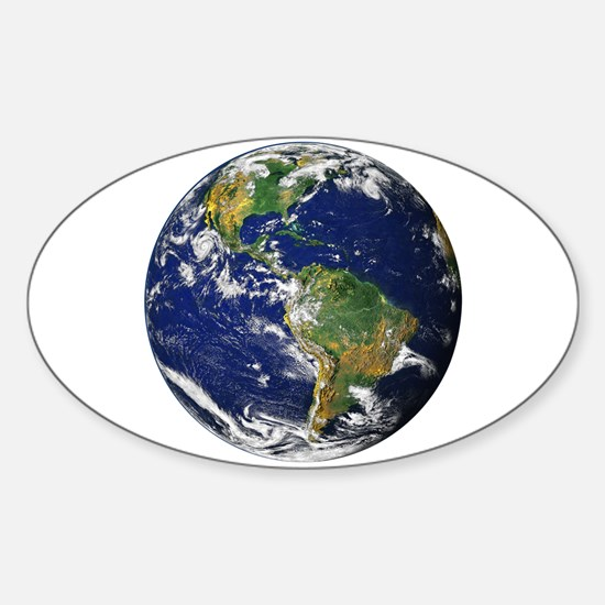 Planet Earth Oval Decal