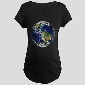 Planet Earth Maternity Dark T-Shirt