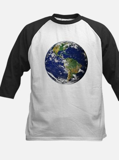 Planet Earth Kids Baseball Jersey