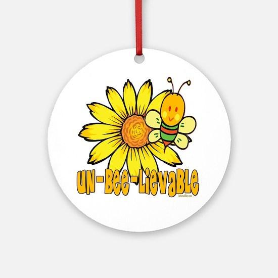 Un-Bee-lievable Ornament (Round)