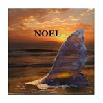 NOEL WHALE Tile Coaster