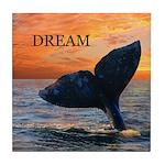 DREAM WHALE Tile Coaster