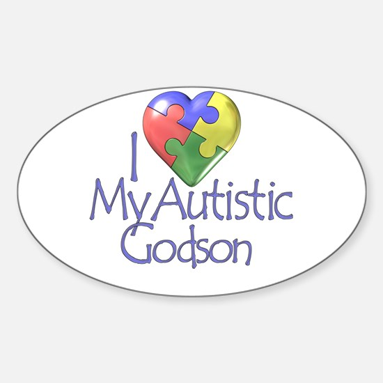 My Autistic Godson Oval Decal